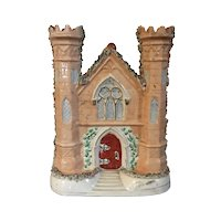 Large Antique 19th century English Staffordshire Pearlware Architectural Model of a Castle Gate