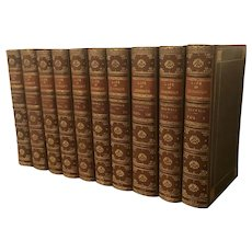 """The Life of Samuel Johnson"" by James Boswell in 10 Volumes Full Leather Binding 1835"