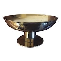 1930's Austrian Brass Centerpiece Tazza Compote Bowl in the Manner of Tommi Parzinger