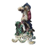 Antique 18th century English George III Bow Porcelain Seasons Figure Emblematic of Autumn 1765