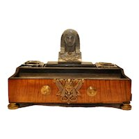 Antique Early 19th century Empire Regency Inkwell or Encrier in the Egyptian Revival Manner Thomas Hope 1810
