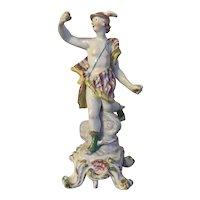 Large Antique 18th century English Georgian Bow Porcelain Figure of Mercury 1760