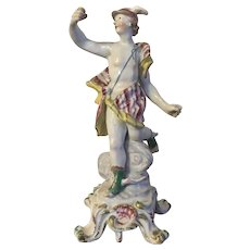 Large Antique 18th century English Georgian Bow Porcelain Figure of Mercury 1760