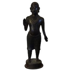 Antique 19th century Indian Bronze Figure of a Religious Man