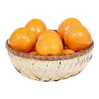 Collection of Eleven Porcelain Naturalistic Hand Made & Painted Fruit Sculptures of Oranges