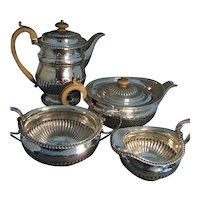 Antique Early 19th century English Regency Sterling Silver Tea and Coffee Service by William Edwards 1812