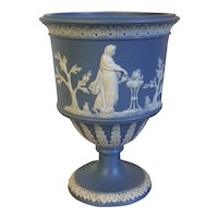Antique 18th century Georgian Jasperware Light Blue Urn Vase in the Wedgwood Manner by Neale or Turner 1790