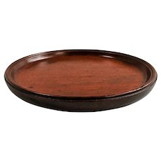 Antique 19th century English Regency Mahogany Small Calling Card Tray, Salver or Wine Bottle Decanter Coaster