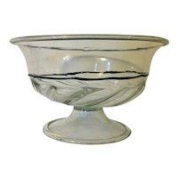 Large Antique 19th century Italian Murano Venetian Glass Centerpiece Compote Tazza or Fruit Bowl