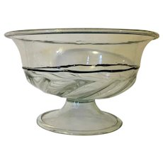 Large Antique 19th century Italian Murano Venetian Glass Centerpiece Compote Tazza or Fruit Bowl