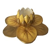 Antique 19th century Royal Worcester Aesthetic Movement Lily Pad Leaf and Blossoming Flower Vase