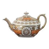 Antique Early 19th century English George III Coalport Porcelain Tea Pot