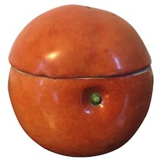 Late 18th / Early 19th century Continental German Porcelain Fruit Box or Tureen in the Form of Naturalistic Orange