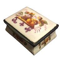 Antique Early 19th century English Battersea Bilston Enamel Hinged Box