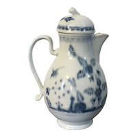 Antique 18th century Vienna Porcelain Milk Jug or Tea Pot and Cover in Blue & White in the Chinese Taste