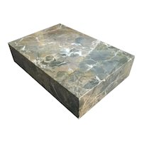 French Specimen Marble Rectangular Display Stand, Base or Plinth for a Bronze Sculpture