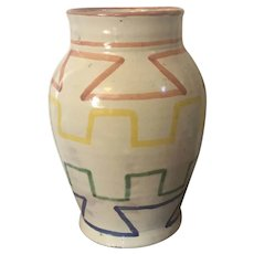 Mexican Art Pottery Vase Signed Zarco from Dolores Hidalgo, Mexico