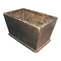 Antique 19th century American Paint Decorated Box or Caddy