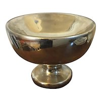 Large Antique 19th century Mercury Blown Glass Compote Centerpiece Footed Fruit Bowl