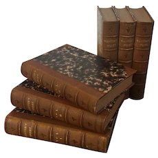 """Fine Leather Bindings 6 Volumes """"The Works of Daniel Webster"""" Books Published by Little Brown and Company, Boston 1854"""