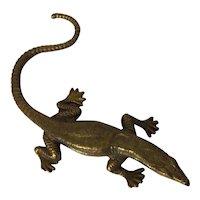 Antique 19th century French Brass Figure of a Salamander Lizard