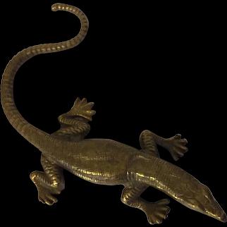Antique 19th century French Grand Tour Brass Figure of a Salamander Lizard