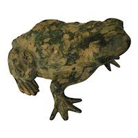Japanese Patinated Bronze Figure of a Toad or Frog