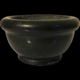 Antique 19th century Grand Tour Black Marble Mortar Bowl