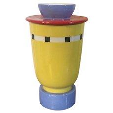 Vintage 1980's Art Pottery Vase Bishop Street Studios Dallas, TX