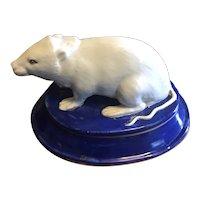 Antique 19th century Paris Porcelain Figure of a Rodent or Rat
