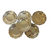 Set 6 Early 19th century Old Sheffield Silver Plate on Copper Charger Service or Dinner Plates by Matthew Boulton