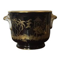 Tiffany & Co. Private Stock Paris Porcelain Cachepot by Le Tallec in Silver and Gold Gilt Chinoiserie