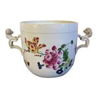 Antique 18th century German Porcelain Cachepot Jardiniere Ice Pail Urn