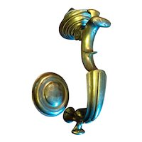 Antique 18th century English George III Brass Doctor's Door Knocker & Striker