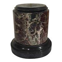 Antique 19th century Italian Grand Tour Rouge Marble Display Base Column Pedestal