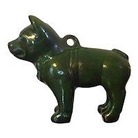 Chinese Green Glaze Porcelain Figure of a Dog