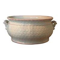 Large Antique 19th century English Porcelain Foot Bath or Planter Jardiniere 1830 - 1850 Footbath