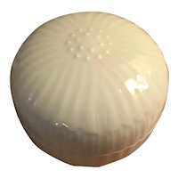 Japanese Blanc de Chine Porcelain Lotus Flower Box or Bowl & Cover