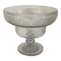 Antique 18th century Anglo Irish Cut Crystal Footed Centerpiece Bowl for Fruit or Punch