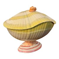 Antique Early 19th century Wedgwood Creamware Pearlware Nautilus Sea Shell Sauce Tureen or Box