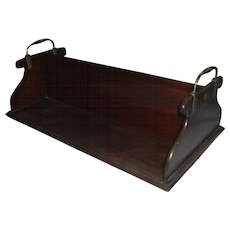 Antique Georgian Mahogany Library Book Caddy for Partner's Desk - George III c. 1800