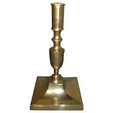 Antique 18th Century English Brass Candlestick