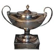Fine 18th c. - circa 1790 - Old Sheffield Silver on Copper Tea Caddy Urn - Golf Trophy 1931