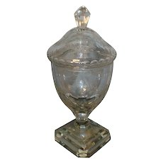 Antique 18th century Georgian Anglo Irish Glass Urn & Cover in the Adam Taste - Lead Crystal 1790