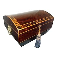 Antique Early 19th century English Regency Rosewood Tea Caddy or Jewelry Box