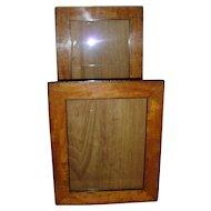 Antique Pair 19th century Biedermeier Fruitwood & Ebonized Wood Picture Frames
