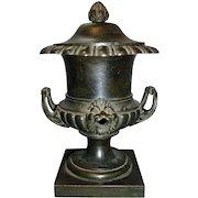 Antique 19th century English Regency Bronze Urn Vase Colza Oil Lamp 1815
