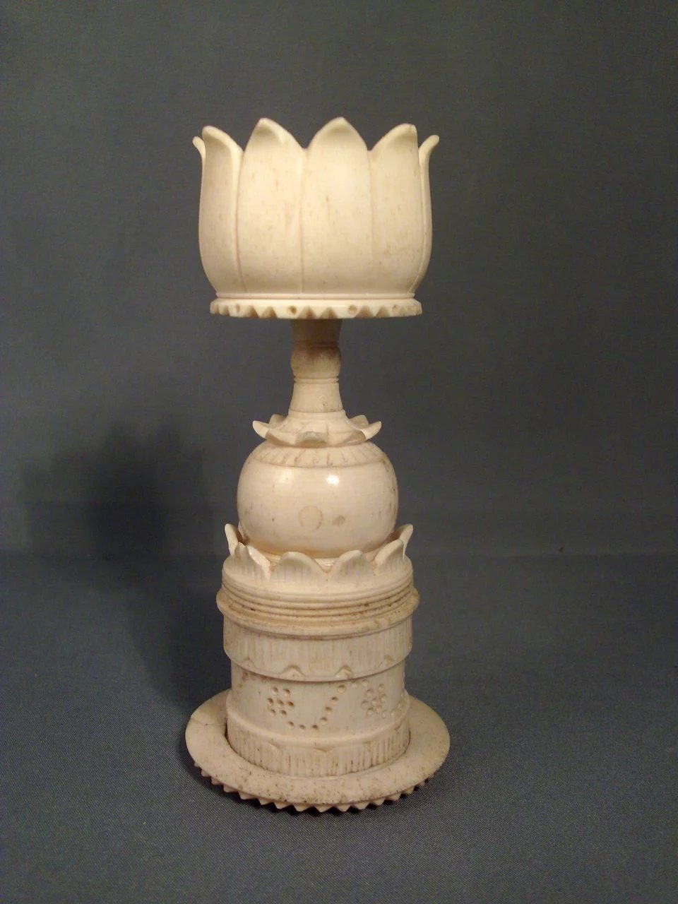 Exhibition Stand Crossword Clue : Antique th c chinese carved bone display stand for a
