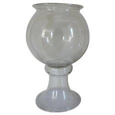 Antique 19th century Victorian American Blown Glass Fishbowl
