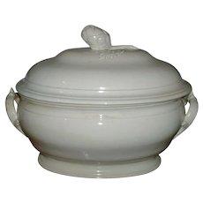 Fine Antique 18th century Pont-Aux-Choux French Creamware Soup Tureen